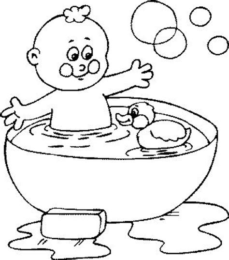 Bathroom Coloring Pages Bath sketch template
