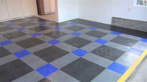 garage floor makeover race deck flooring install youtube