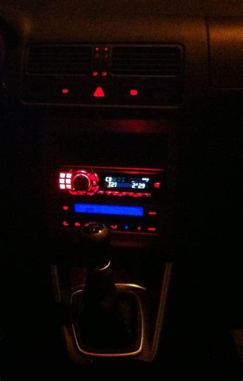 golf 4 beleuchtung zubeh 246 r radio mit rot blauer beleuchtung golf 4 forum