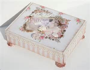 paperlicious designs shabby chic altered cigar box