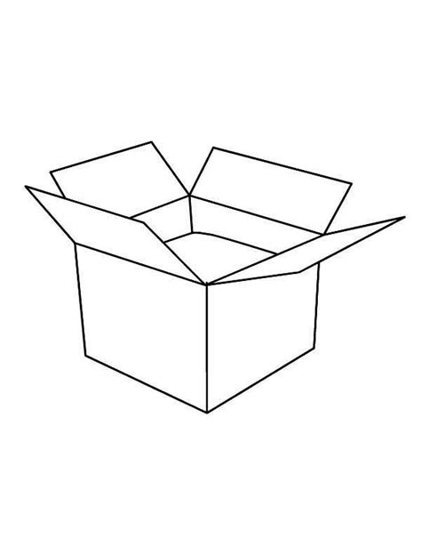empty treasure box coloring pages