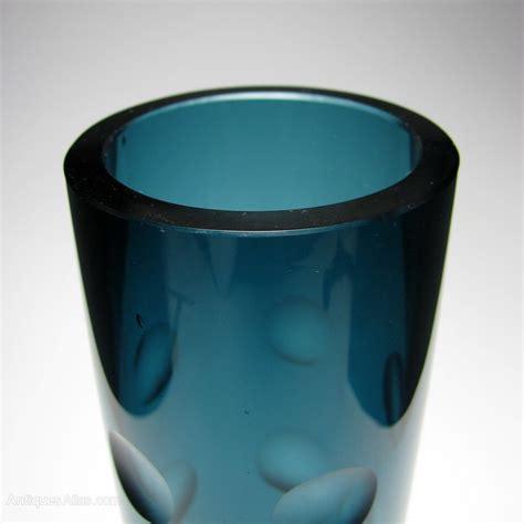 len glas antiques atlas erich jachmann wmf lens cut glass vase c1950