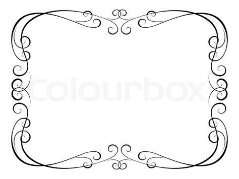 Vorlage Word Herz Kalligraphie Ornamentalen Dekorativen Rahmen Vektorgrafik Colourbox