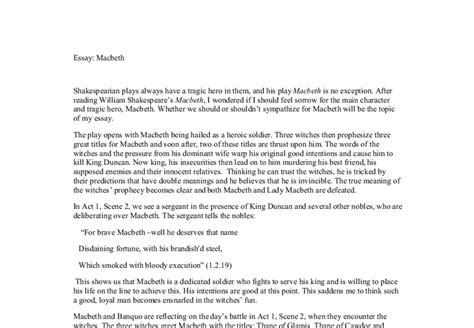 Critical Essay Macbeth by Macbeth Critical Essay Whether We Should Or Shouldnt