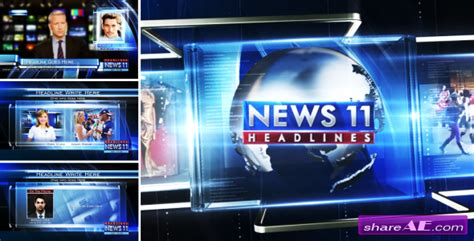 templates after effects news broadcast design news package 03 after effects project