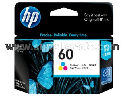 Tinta Printer Hp 60 Color Supplier Stationery Alat Tulis Kantor Tinta Hp Tri