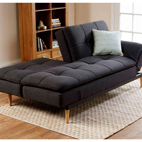 lounge futon da vinci sofa bed charcoal