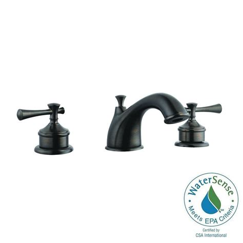 Brushed Bronze Bathroom Faucet by Design House Ironwood 8 In Widespread 2 Handle Bathroom