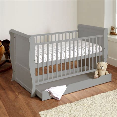 baby sleigh deluxe  bed  storage drawer foam