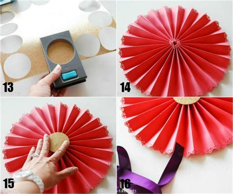 How To Make Paper Fan Circles - how to make decorative paper medallions paper crush