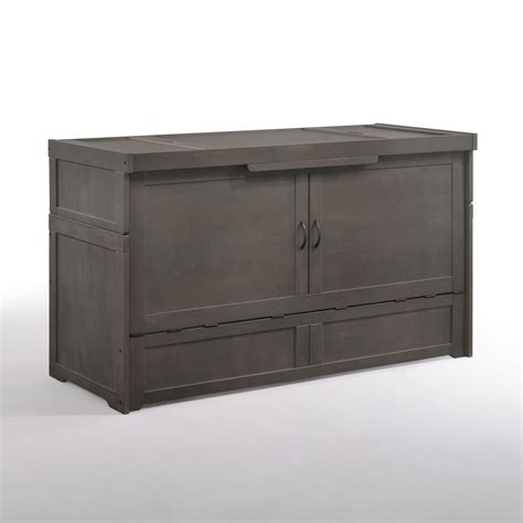 night and day cabinet cube queen murphy cabinet bed stonewash by night day furniture