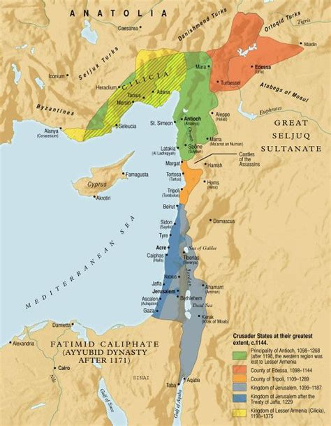 crusader maps opinion holy land israel and created by