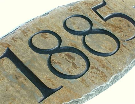 house number signs address sign carved stone house number marker plaque