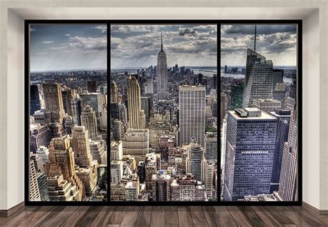 New York Skyline Wall Mural new york skyline wallpaper murals penthouse