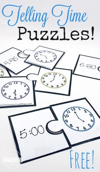 printable clock puzzle telling time puzzles