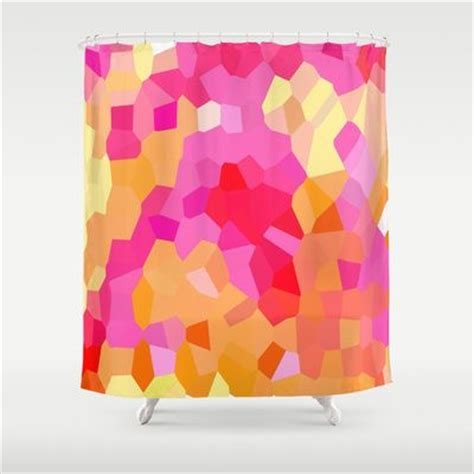 pink and orange shower curtain pinterest the world s catalog of ideas