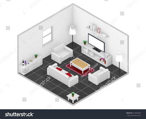 isometric view of bedroom isometric 3d livingroom stock photo 272834087 shutterstock