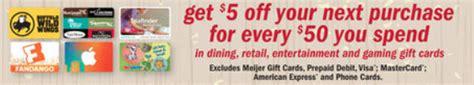 Meijer 5 Off 50 Gift Card - meijer black friday sale november 25 2016 bargains to bounty