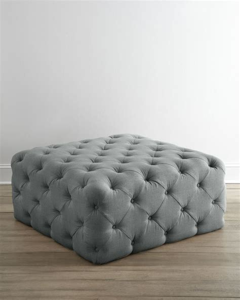 Tufted Ottoman Fabric Furnishings Fancies Tufted Fabric Ottoman