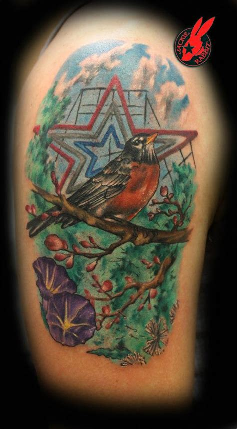 tattoo parlor roanoke va roanoke star and robin tattoo by jackie rabbit by