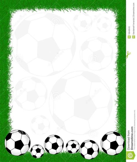 lined paper with football border football borders and frames soccer frame border 19549543