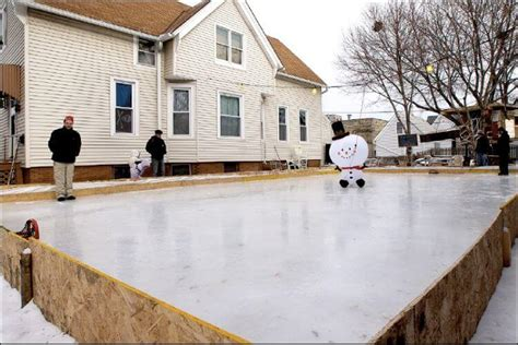 how to make a diy rink in your backyard
