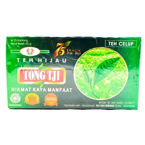 Teh Celup Binahong Dengan Teh Hijau tongtji teh hijau celup 50 gram tong tji green tea bags 25 ct 2 gr