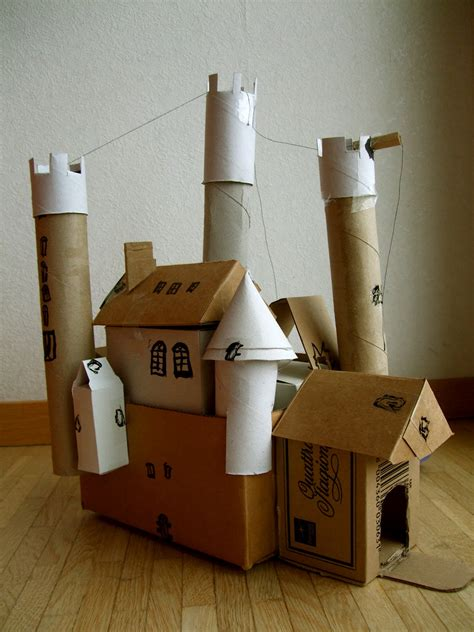 How To Make A Paper Castle - acorn pies build a cardboard castle
