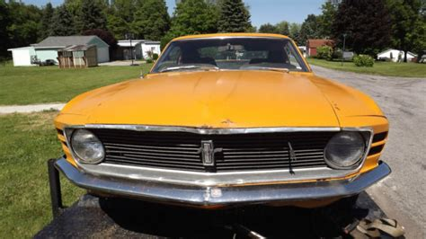 when was the mustang fastback made 1970 ford mustang fastback factory grabber orange