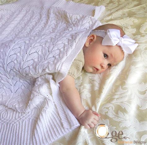 Blankets For Babies by Intricate Lace Baby Blankets For Experienced Knitters