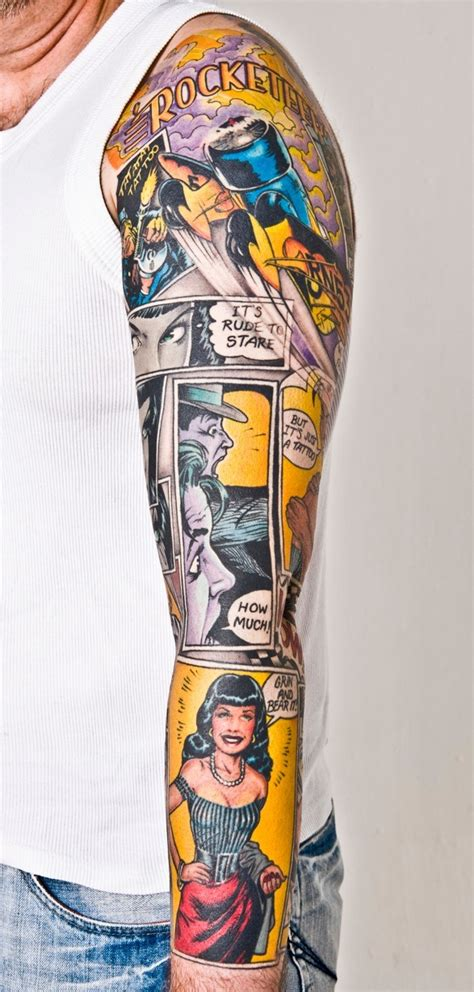 great comic book tattoos comic book critic
