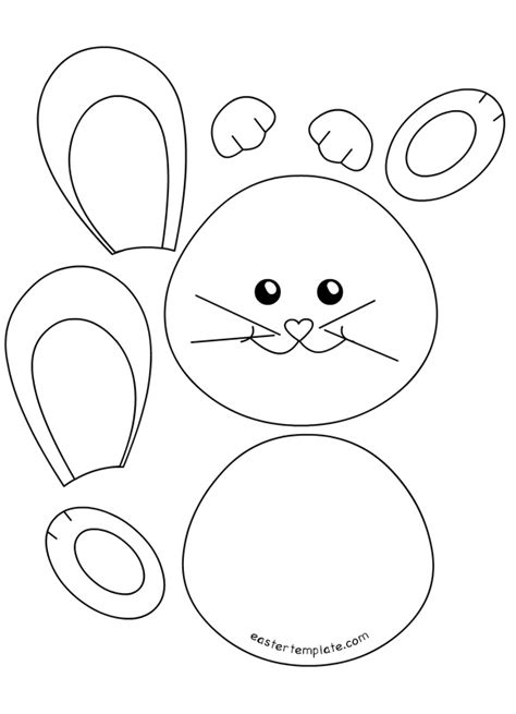 cut out template easter bunny cut out templates happy easter 2018