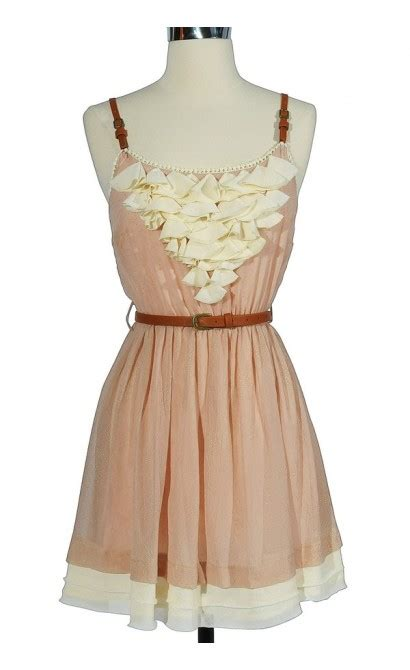 Country Dress country whimsy leather belted dress in pink boutique