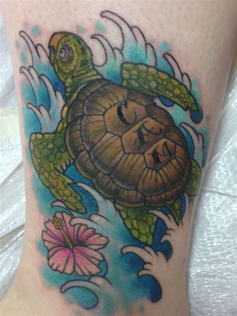 sea tattoo designs my new sea turtle holes ink