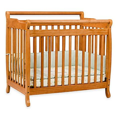 Are Mini Cribs Safe Davinci Emily Mini Crib In Honey Oak Buybuy Baby