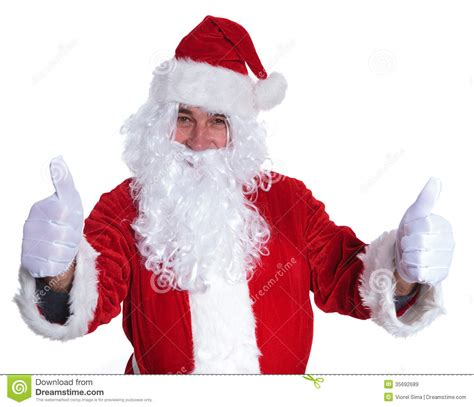 santa claus thumbs up santa claus is the ok sign royalty free stock images image 35692689