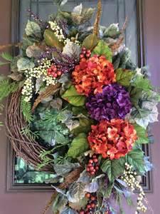 Fall Front Door Wreaths Autumn Wreath Fall Wreath Front Door Wreath Grapevine