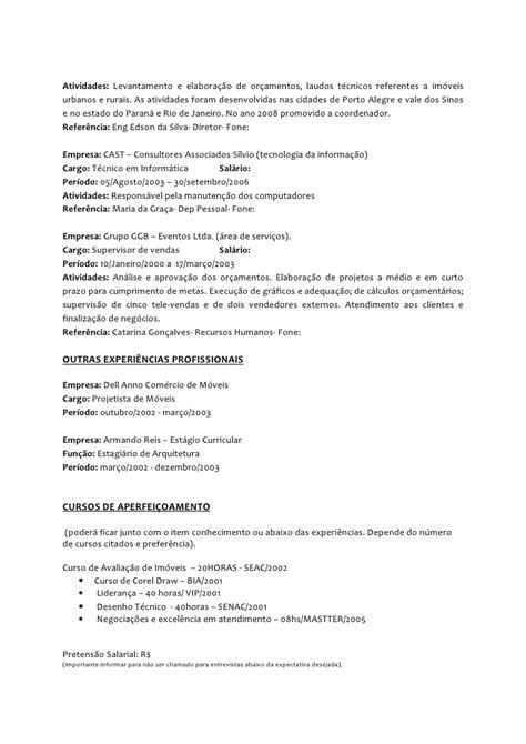 Modelo Curriculum Vitae Tecnico Informatica Modelo Curriculo 3