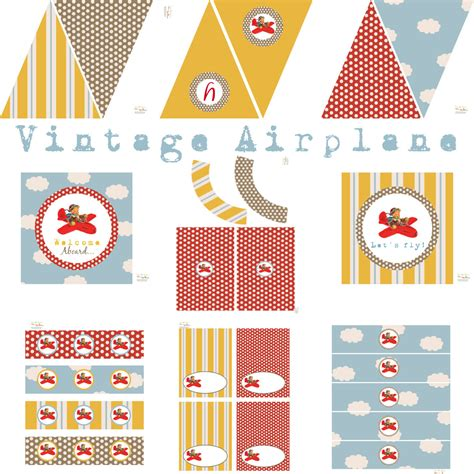 Vintage Airplane Birthday Decorations vintage airplane birthday airplane baby shower