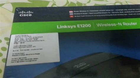 Linksys Cisco E1200 By Tecnet cisco linksys e1200 wireless n router unboxing on