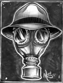 psycho realm gasmask art by johnny garza http www