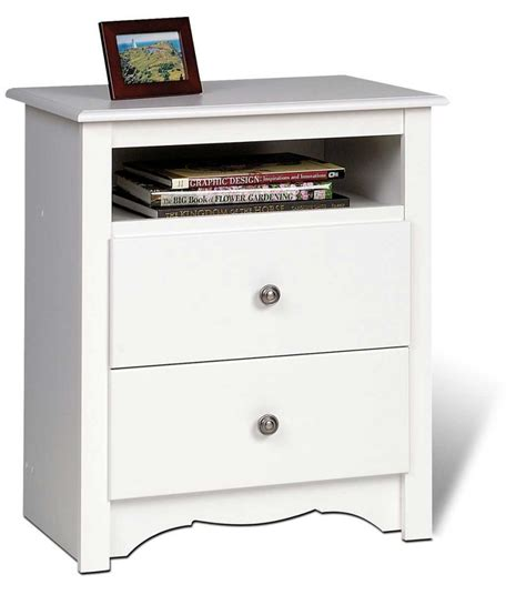 Inexpensive Nightstands With Drawers 3 Discount Prepac Monterey Platform Storage Bed Set With Free Delivery And Consumer