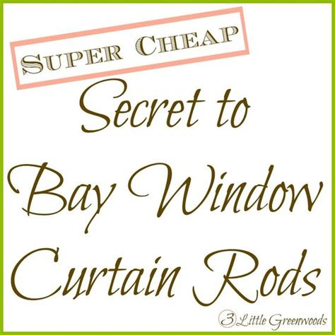 cheap bay window curtain rods the secret to diy bay window curtain rods from the