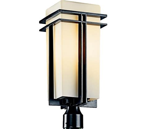 Kichler Lighting Catalogue Kichler 49207bk Tremillo 1 Light Black Outdoor Post Lighting
