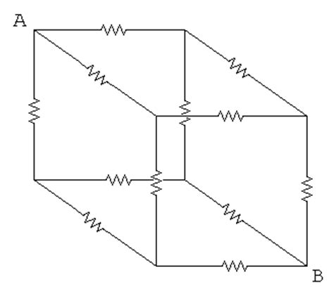 resistors on a cube electronic puzzle cube