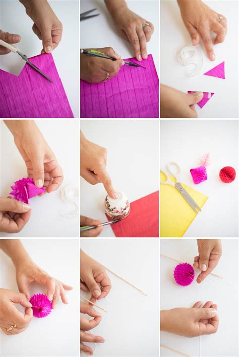 How To Make Paper Cake - honeycomb paper cake topper diy