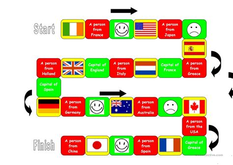 flags of the world game instructions board game flags capitals nationalities worksheet free