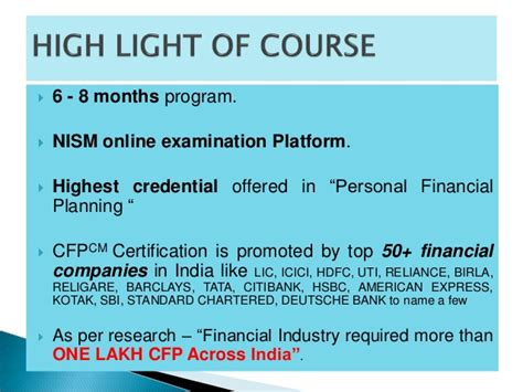 Mba In Insurance And Financial Planning by Cfp Aspirant Prsentaion Fo Mba Student