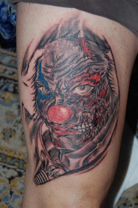 s1600 evil clown tattoos desig tagged as designs tattoo