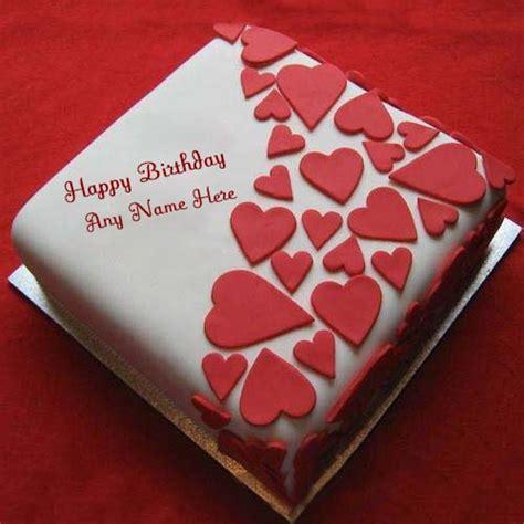red heart shaped birthday cake
